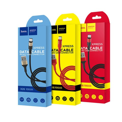 Hoco X26 Xpress Charging Data Cable for Micro-USB