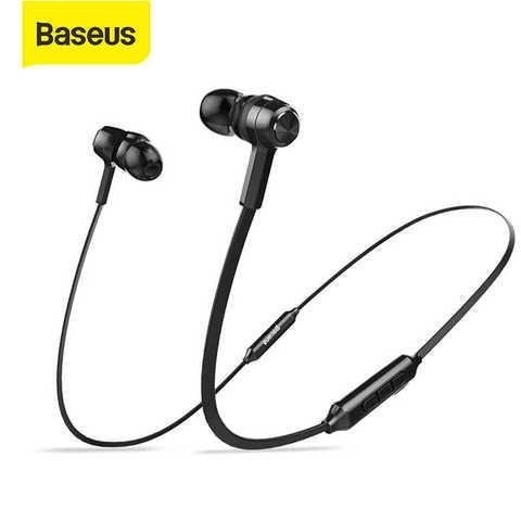 Baseus S06 Bluetooth Earphone Magnetic Wireless Earpieces Neckband Earbuds Sport Stereo Earphone
