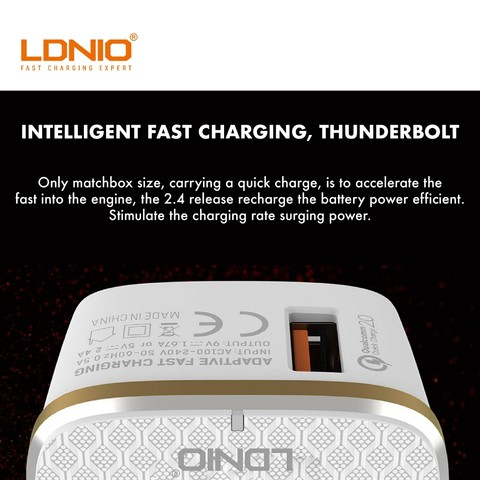 LDNIO A1204Q Auto-ID QC3 18W Fast Charger