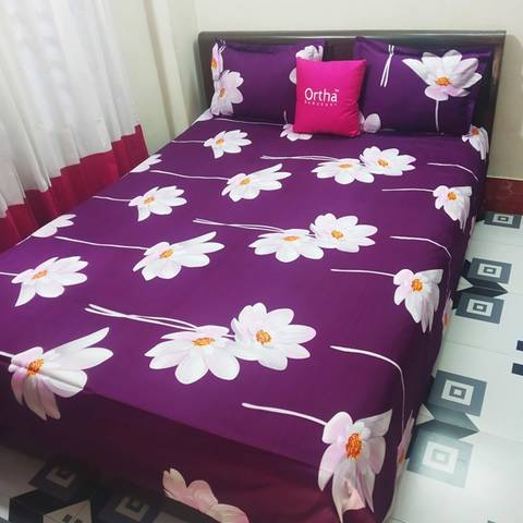 Cotton Twill Double Bed sheet by Ortha