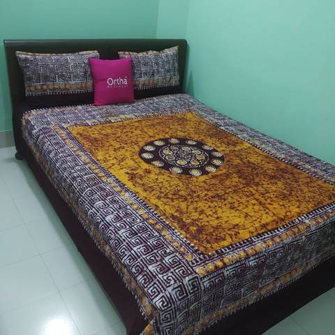 Mom-Batik Ortha Bedsheet - King Size