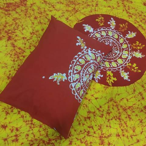 King size Mom Batik bed sheet with matching 2 pillow cover