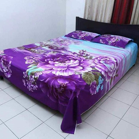 Ortha King Size Panel Bedsheet - 3 pecs