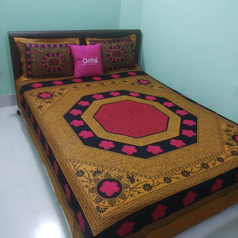 Luxury Panel Ortha Bedsheet - 3 Pecs