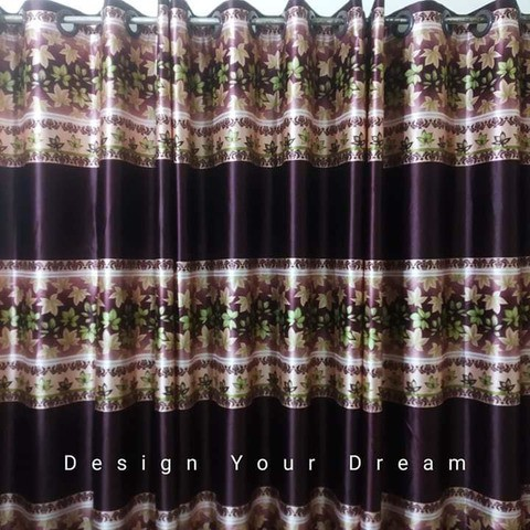 Digital Printed Ortha Curtain - Coffee