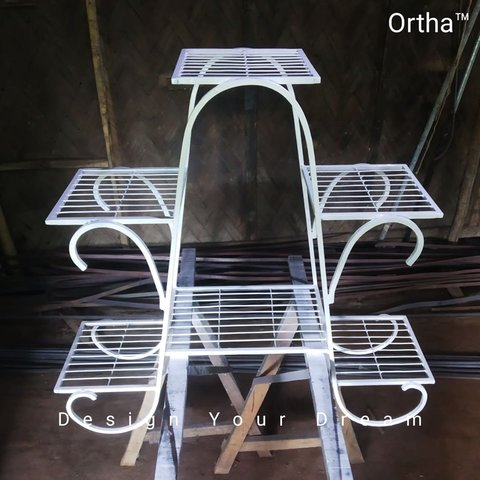 Ortha Flower Rack Stand (Balcony/Indoor)
