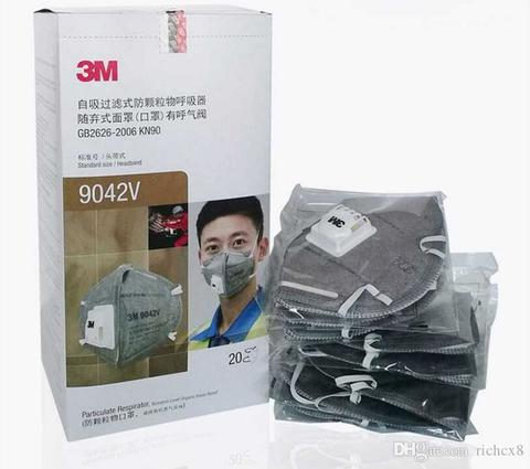 3M 9042V Respirator Activated Carbon Masks with Valve(1Pc)