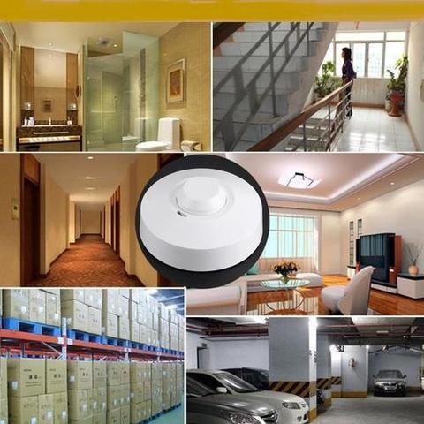360 degree Microwave Sensor Radar Light Control Switch powersaving Ceiling wall Mounted Adjustable Smart Motion Sensor Light Radar Switch