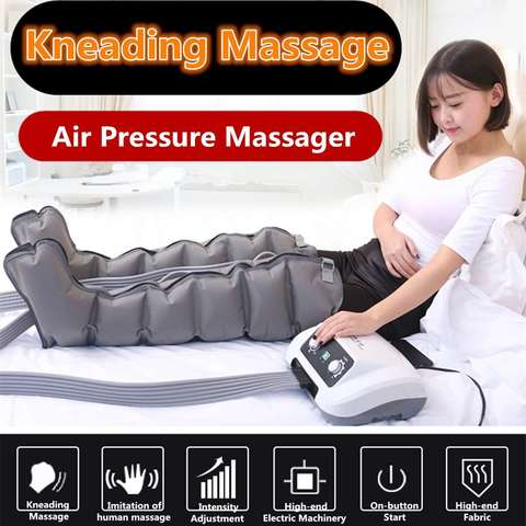 Air Compression leg massager waist body arm relax instrument promote blood circulation pain relief 6 Chambers