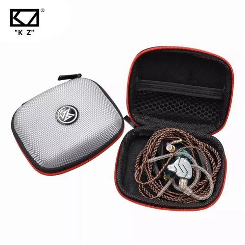 KZ Earphone Bags Fiber Zipper Headphone Earbuds Hard Case Storage Carrying Pouch