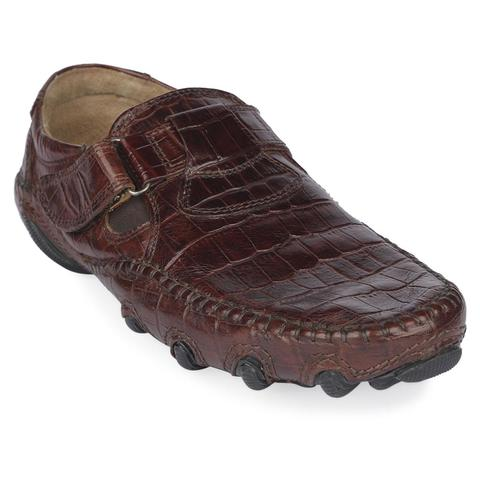 Brown Leather Cycle Shoe for Men-9223102
