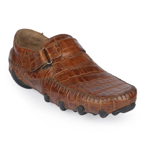 Brown Leather Cycle Shoe for Men-9223103