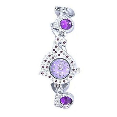 Feha Peacock Pride Stainless Steel Analog Watch for Women - Multi color
