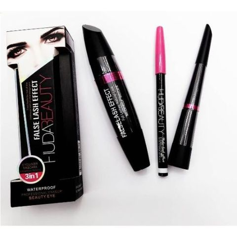 3 In 1 - Mascara, Eyeliner, Eyebrow Pencil False Lash