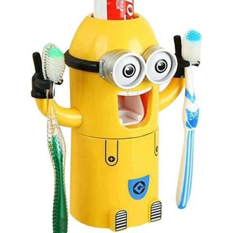 Minion Toothpaste Dispenser with Brush Holder