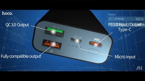 Hoco J51 10000Mah Powerbank Dual Fast