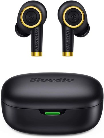 Bluedio Particle TWS Bluetooth Headphones Wireless Earbuds Waterproof Sports In-ear Headphones with Charging Case