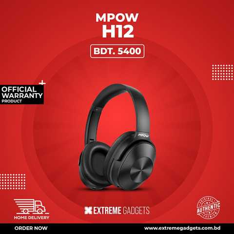 Mpow H12 With ANC Bluetooth Headphone with 2 years Official Warranty