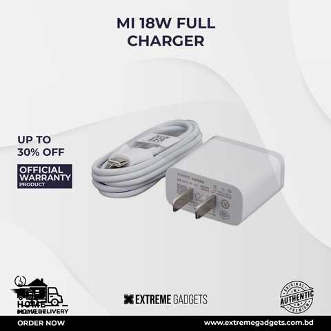 MI 18W Fast Charger QC.3 With 3 Months Official Warranty