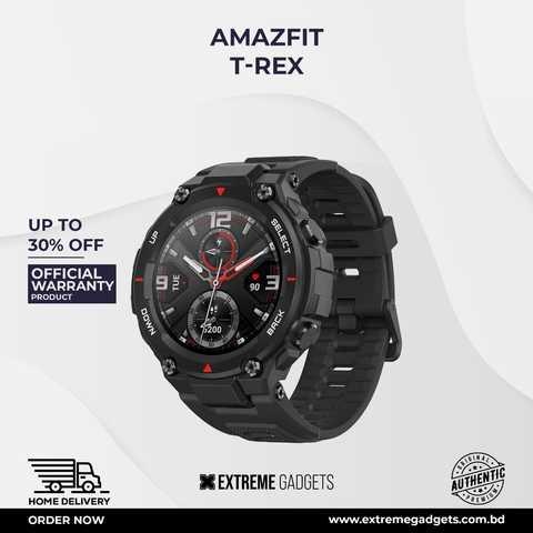 Amazfit T Rex Smartwatch [12 Months Official Warranty]