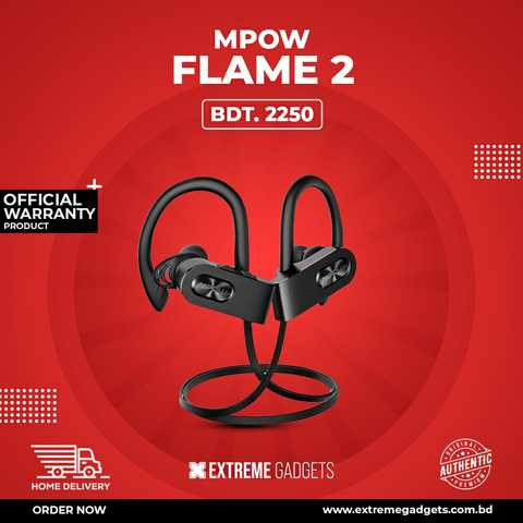 Mpow Flame 2 Bluetooth Earphone with 2 Years Official Warranty