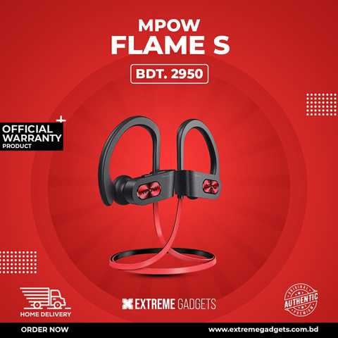 Mpow Flame S Qualcom-aptx supported Bluetooth Earphone with 2 Years Official Warranty
