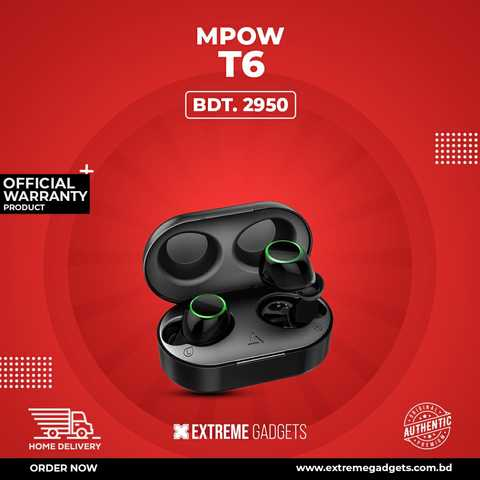 Mpow T6 TWS with 2 Years Official Warranty