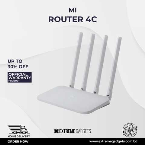 Mi Router 4C [3 months Official Warranty]
