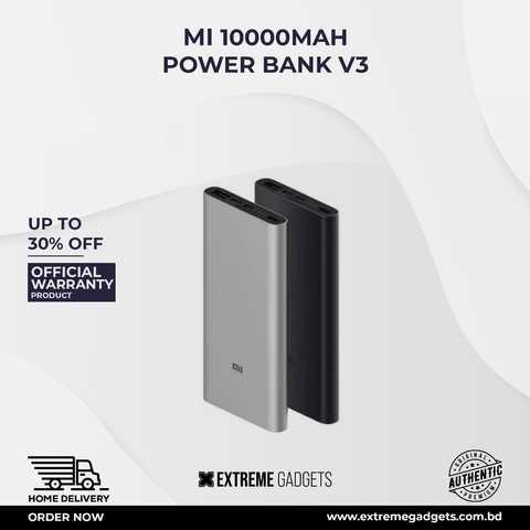 Mi 10000mAh Power Bank V3 18W Fast Charging Power bank [6 Months Warranty]