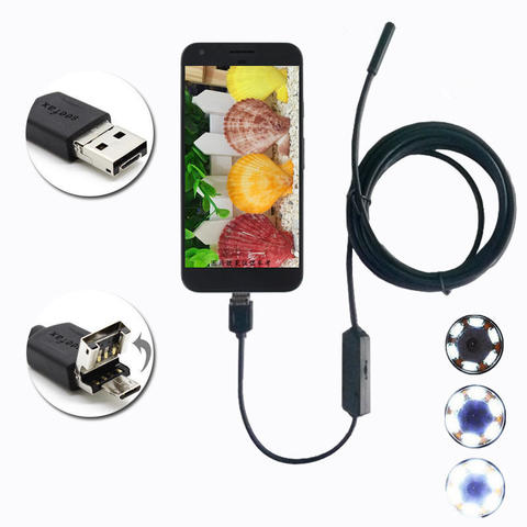 Endoscope inspection Camera IP68 Waterproof Usb & Micro Usb Snake Support Mobile & PC 3Meter