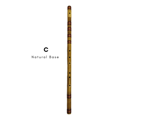 C Natural Base Special Base Bansuri Flute 35 Inch