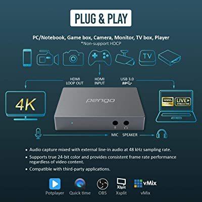 Pengo 4K HDMI Pass-Through Grabber