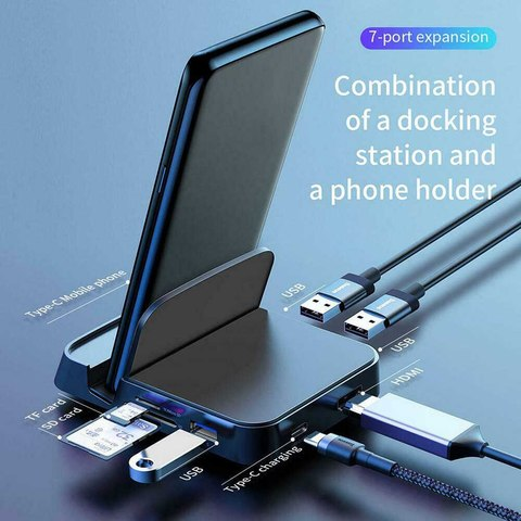 7 in 1 phone holder Dex Station HDMI Dock power adapter laptop docking station usb hub usb c docking station