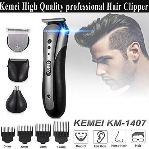 Kemei KM-1407 Men Hair Cut Clipper Trimmer Electric Shaver
