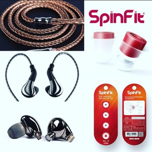 Blon 03 + Yinyoo 16 Core High Purity Copper Cable + Spinfit CP100  ear tips 1 pair (M) Combo