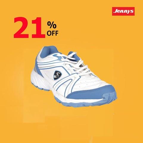 Jennys Men's White & Blue Sneaker-9195u0g