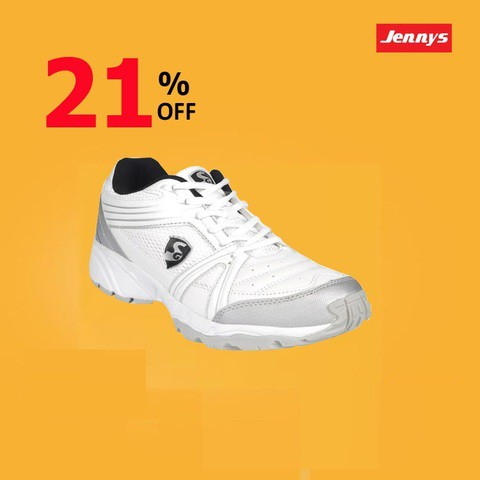 Jennys Men's White & Silver Sneaker-9195u08