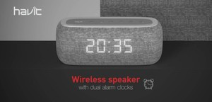 HAVIT MX801 BLUETOOTH SPEAKER WITH  ALARM CLOCK
