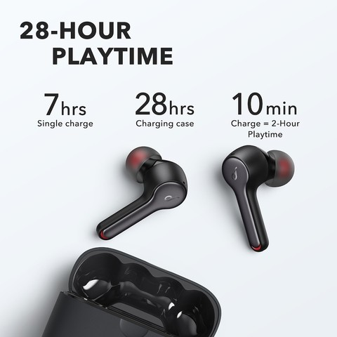 ANKER Liberty Air 2 Earbuds (Black) With18 Months Official Warranty.
