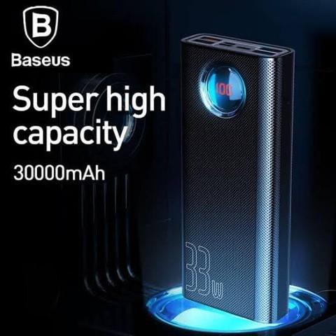 BASEUS 30000MAH PORTABLE USB C PD FAST CHARGING 33W POWER BANK