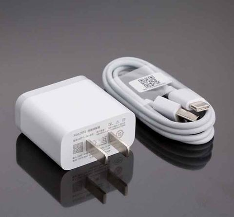 Mi Adapter 2A (White) + Cable USB Type B/C [3 Months Warranty]