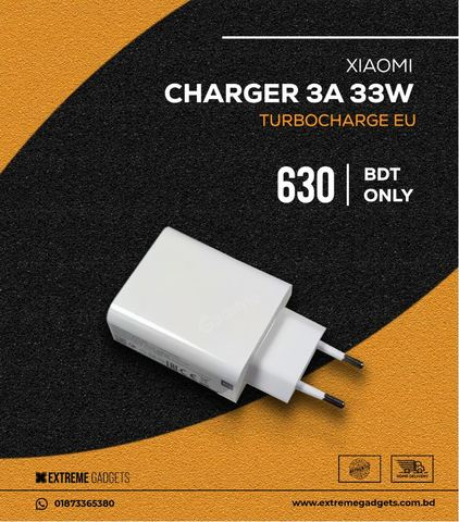 OFFICIAL XIAOMI 33W FAST CHARGER (3 month warranty)