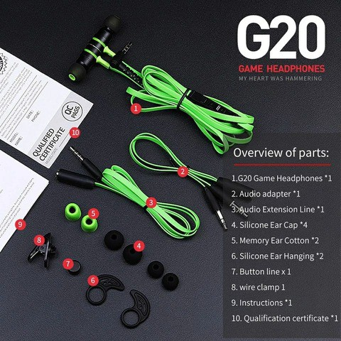 Plextone G20 Wired Gaming Earphone (3.5 mm)