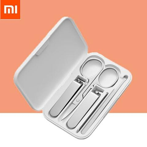 Xiaomi Mijia Stainless Steel Nail Clippers Set Trimmer Pedicure Care Clippers Earpick Nail File Professional Beauty Tools