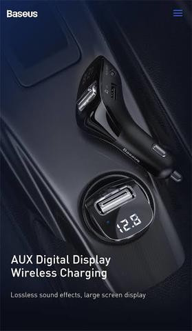 Baseus Streamer F40 AUX Wireless MP3 Car Charger