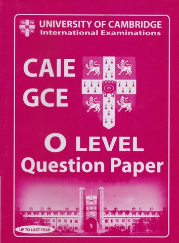 Cambridge International O LEVEL Business Question Paper