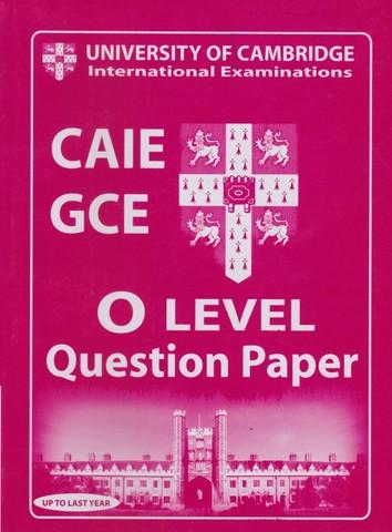 Cambridge International O LEVEL English Question Paper 1 & 2