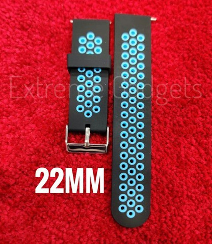 Double Color silicone Wrist Strap 22mm (Octopus)