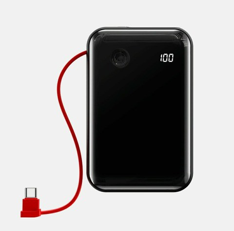 Baseus Mini S Digital Display 3A Power Bank 10000mAh( With Type-C Cable) with 12 months official warranty.