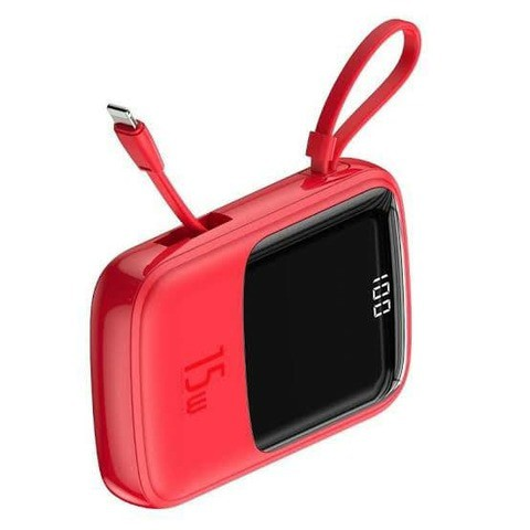 Baseus Mini S Digital Display 3A Power Bank 10000mAh( With with IP Cable) with 12 months official warranty.